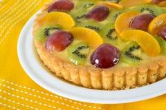 De close-up van de fruitcake stock fotografie