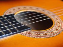 De close-up van de gitaar Royalty-vrije Stock Afbeelding
