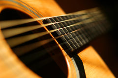 De close-up van de gitaar Stock Afbeelding
