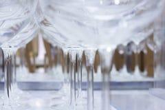 De Close-up van de Glazen van de wijn Stock Afbeeldingen