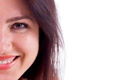 De Close-up van de glimlach Stock Afbeeldingen