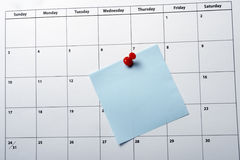 De close-up van de kalender Stock Fotografie