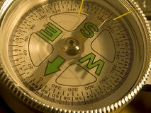 de Close-up van de kompaswijzerplaat Stock Foto