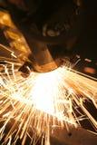 De close-up van de laser Stock Afbeelding