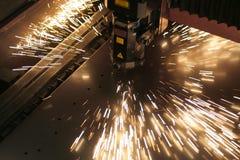 De close-up van de laser stock afbeeldingen
