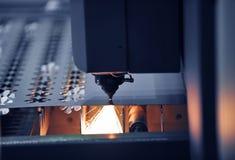 De close-up van de laser royalty-vrije stock afbeeldingen