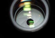 De close-up van de lensopening Stock Fotografie