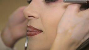 De close-up van de lippenmake-up Volledige Video HD stock video