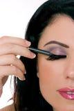 De close-up van de make-up Stock Fotografie