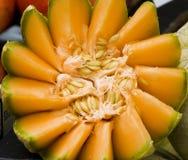 De close-up van de meloen Stock Foto's