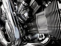 De close-up van de motorfietsmotor als achtergrond Stock Afbeeldingen