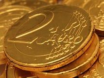 De Close-up van de Muntstukken van de chocolade stock afbeelding