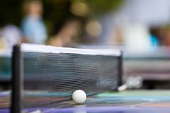 De close-up van de pingpong Stock Afbeeldingen
