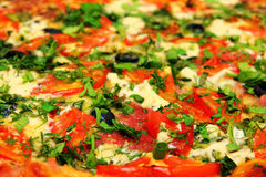 De close-up van de pizza Royalty-vrije Stock Foto's