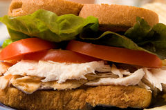 De Close-up van de sandwich Stock Afbeelding