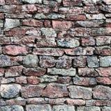 De close-up van de steenmuur, obstructie voert patroonachtergrond, de oude oude doorstane rode en grijze van het het dolomietcalc Royalty-vrije Stock Fotografie