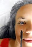 De Close-up van de Toepassing van de mascara Royalty-vrije Stock Afbeeldingen