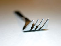 De close-up van de vork royalty-vrije stock foto's