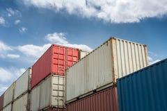 De close-up van de vrachtcontainer Stock Afbeelding
