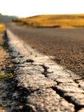 De close-up van de weg Stock Fotografie
