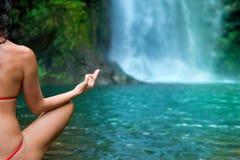 De close-up van de yoga Stock Fotografie