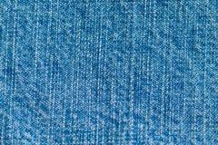 De close-up van de denimtextuur stock foto's