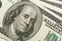 De close-up van dollars royalty-vrije stock afbeelding