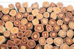 De close-up van een stapel sneed hout Royalty-vrije Stock Afbeeldingen