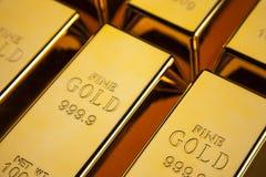 De close-up van goudstaven Royalty-vrije Stock Foto's