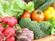 De close-up van groenten Stock Afbeeldingen