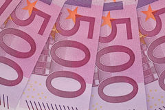 De Close-up van het bankbiljet Stock Foto's