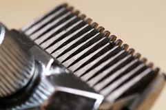 De Close-up van het Blad van de Snoeischaar van het haar Royalty-vrije Stock Afbeelding