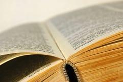 De close-up van het boek Stock Afbeeldingen