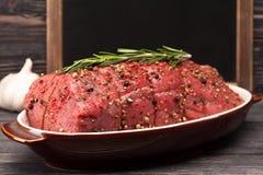 De close-up van het braadstukrundvlees Stock Foto