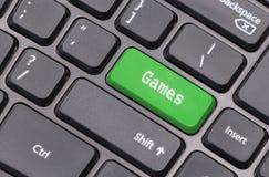 De close-up van het computertoetsenbord met Speltekst Royalty-vrije Stock Foto