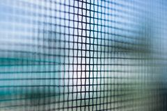 De close-up van het de draadscherm van het klamboevenster royalty-vrije stock foto
