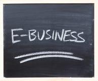 De close-up van het e-business Stock Foto