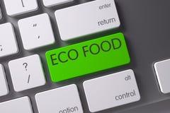 De Close-up van het Ecovoedsel van Toetsenbord 3d Royalty-vrije Stock Fotografie