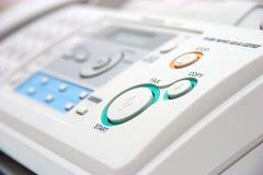 De close-up van het faxapparaat Stock Afbeeldingen