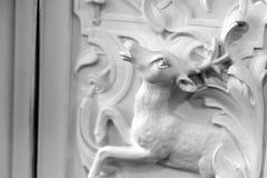 De close-up van het hertenstandbeeld royalty-vrije stock foto's
