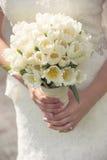 De close-up van het huwelijksboeket Stock Afbeeldingen