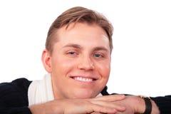 De close-up van het jonge mensengezicht Stock Afbeeldingen