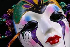 De Close-up van het Masker van Gras van Mardi Stock Foto's