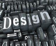 De close-up van het ontwerp Stock Foto's