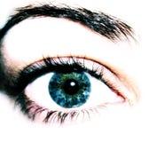 De Close-up van het oog royalty-vrije stock foto