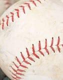 De close-up van het softball Stock Afbeeldingen