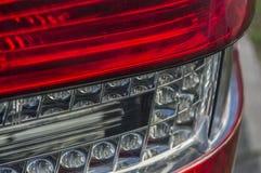 De close-up van het Sportscarrode licht Royalty-vrije Stock Afbeeldingen