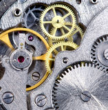 De close-up van het uurwerk Stock Foto