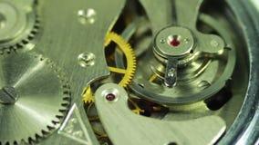 De close-up van het uurwerk stock footage