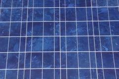 De close-up van het zonnepaneel Stock Afbeeldingen